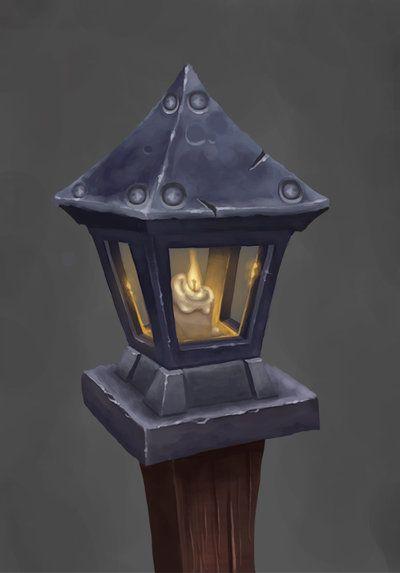 Wow Fan Art Lamp Post Game Art Props Art Environment Concept Art