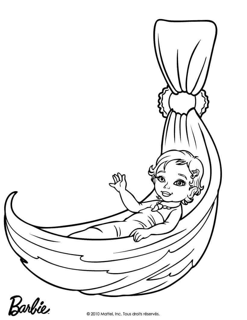 Baby Barbie Coloring Page Barbie Coloring Pages Baby Coloring Pages Barbie Coloring