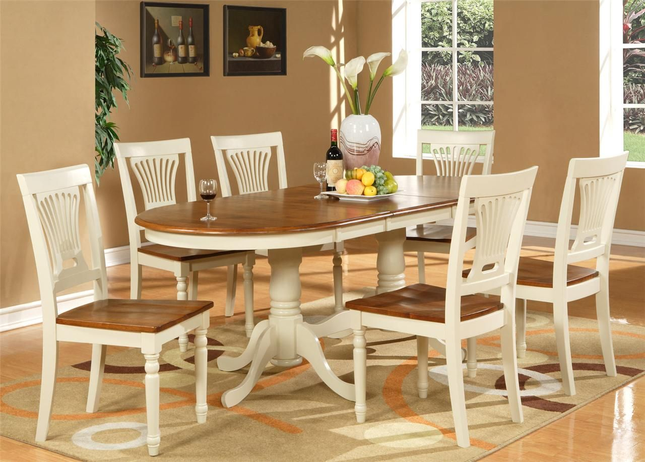 Granite Dining Room Furniture Brilliant 7Pc Dinette Dining Set Table 42X78 With 6 Wood Seat Chairs 2018