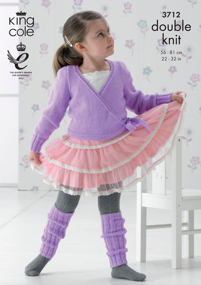 Ballet Cardigan and Leg Warmers in King Cole DK - 3712 | Dos agujas ...