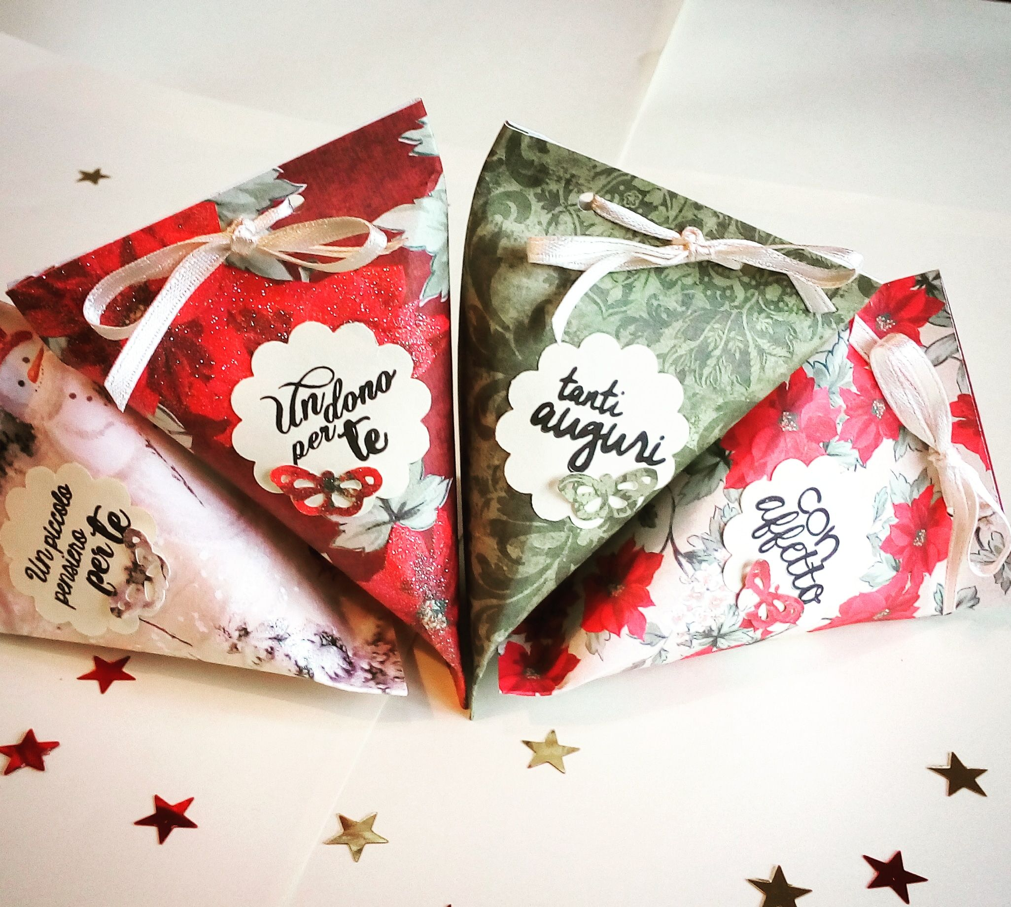 Piccole Scatoline Di Carta christmas boxes, placemarks eve dinner or christmas lunch