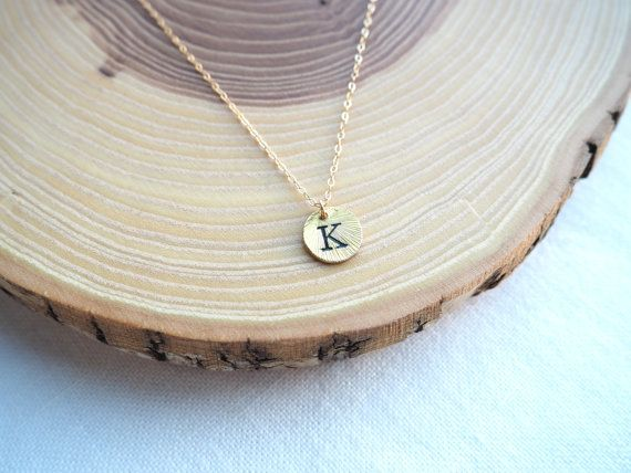 Gold Initial Necklace by UESExclusively