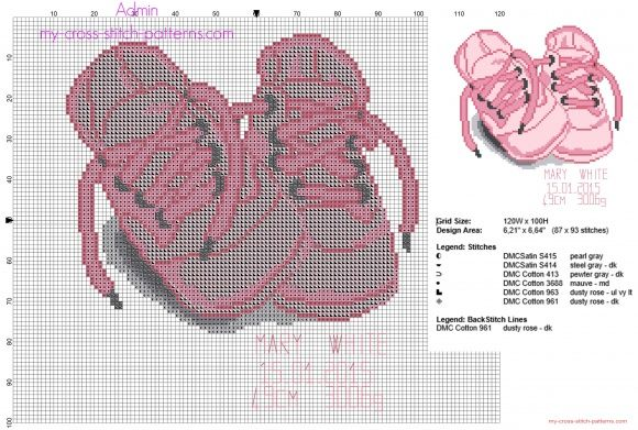 Baby girl booties x-stitch | plastic canvas things | Pinterest ...