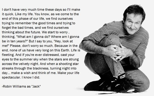 Robin Williams Monologue From Jack Make Your Life Spectacular I Know I Did 1018 X 637 Robin Williams Quotes Patch Adams Quotes Robin Williams Quotes Patch Adams