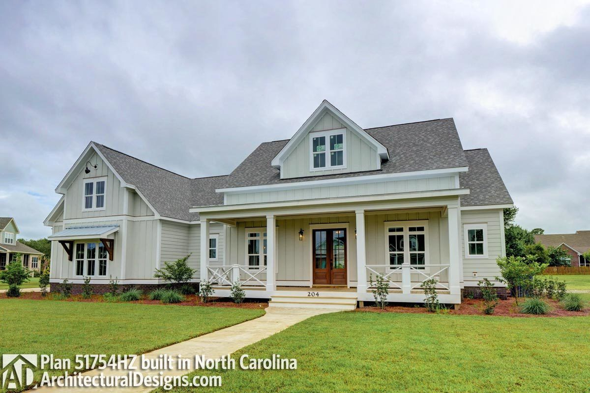 Modern Farmhouse Plan 51754HZ comes to life in North