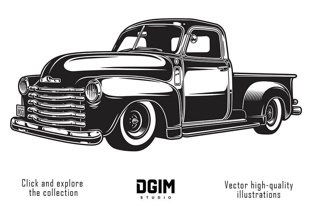 Car Service Classic Cars Car Vintage Pickup Trucks
