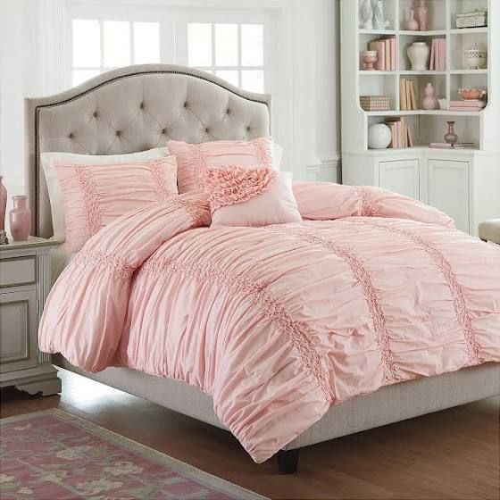 Baby Pink Bedding Comforter Sets