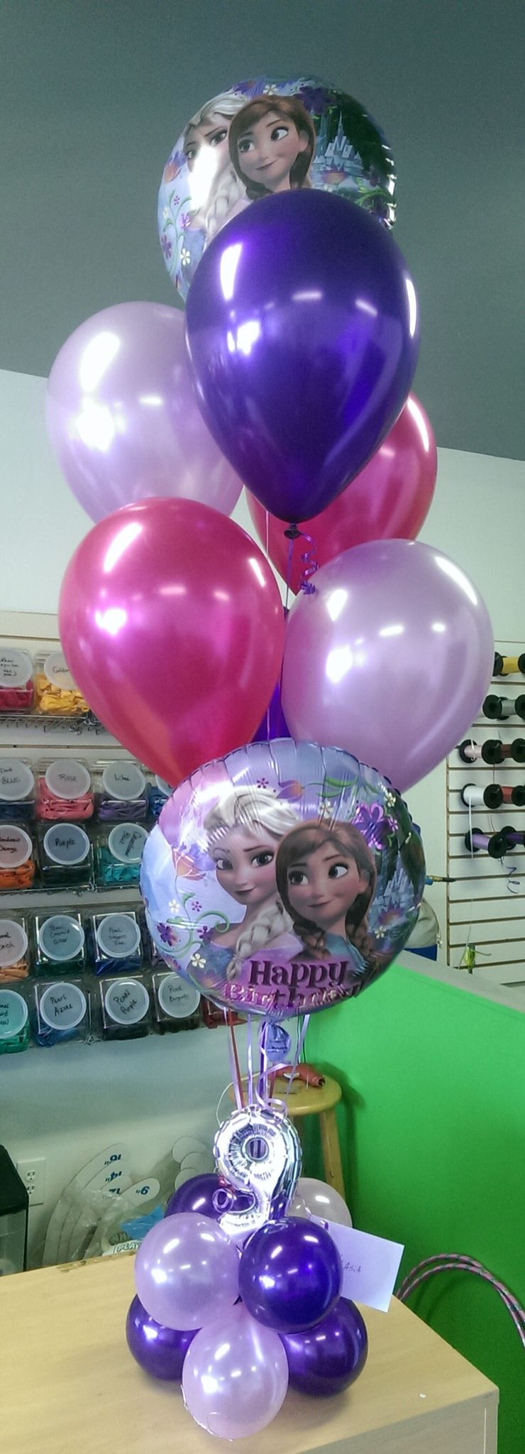 Frozen balloon bouquet unique balloon decor pinterest for 5th birthday decoration ideas
