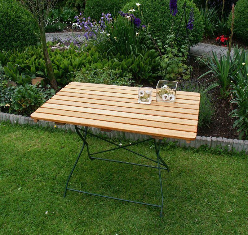 Gartentisch 70 X 110 Cm Natur Grun Woody 184 00055 Holz Modern