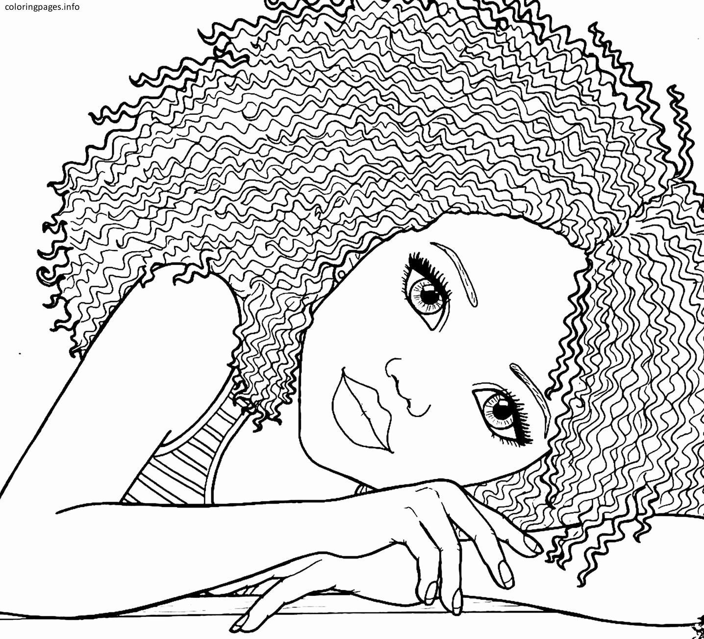 African American Coloring Books Inspirational African Girl