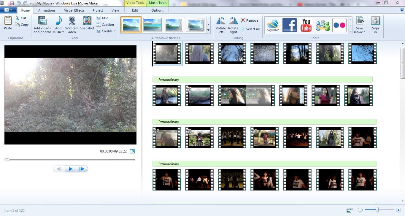 Evaluation: In Order To Make My Music Video, I Used Windows Live Movie Maker