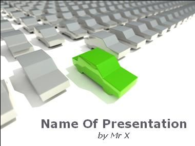 ecological green car powerpoint presentation template | projects, Presentation templates
