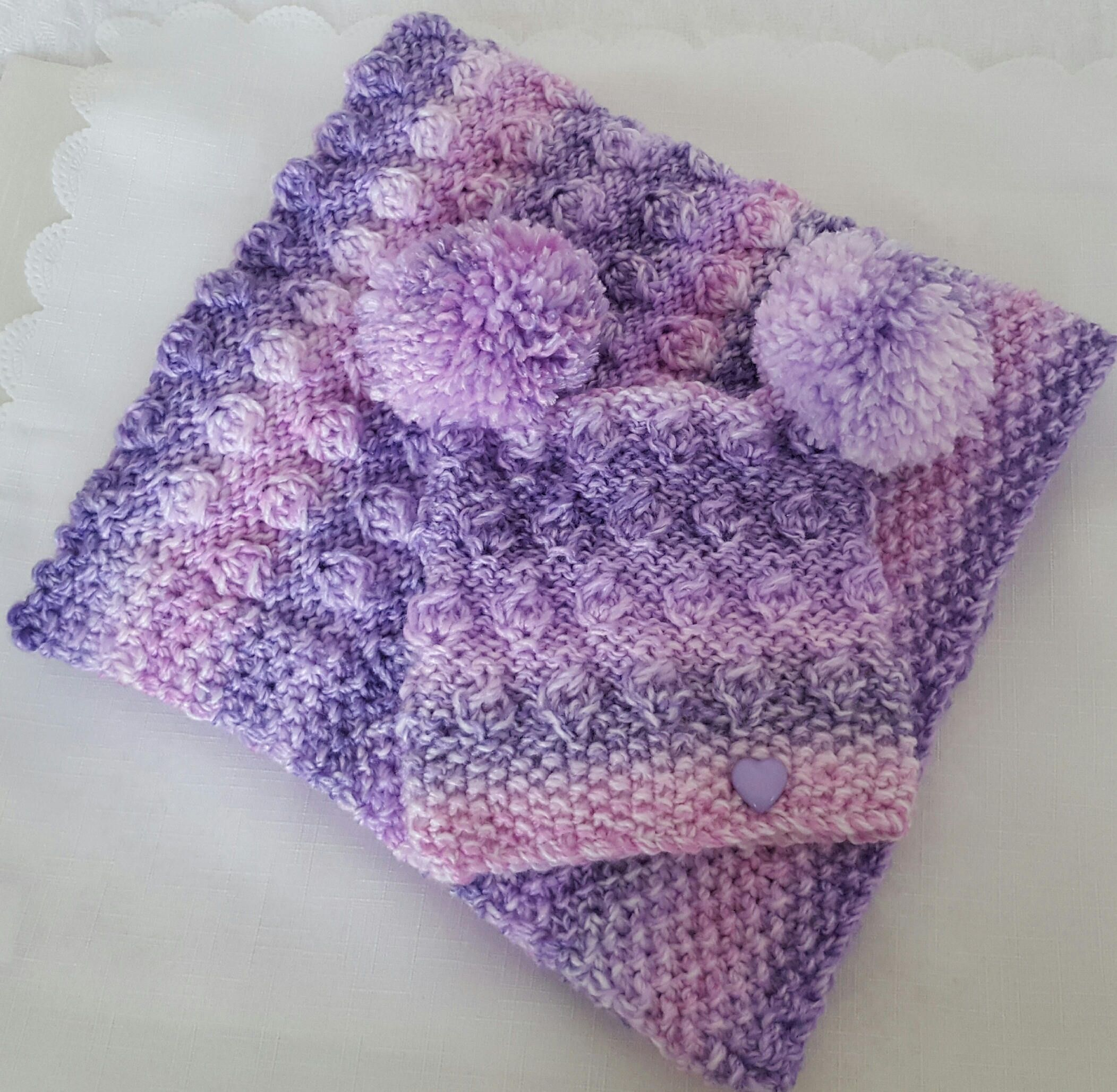 A Baby Knitting Pattern - Chunky Pram Blanket & Hat - Easy ...