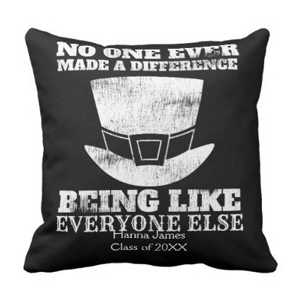 Pt barnum quote make a difference graduation throw pillow throw pillows and pillows