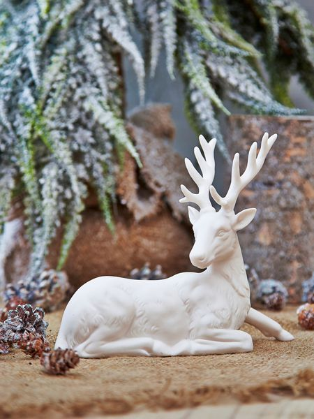 nordic white deer design nordic house - White Deer Christmas Decoration