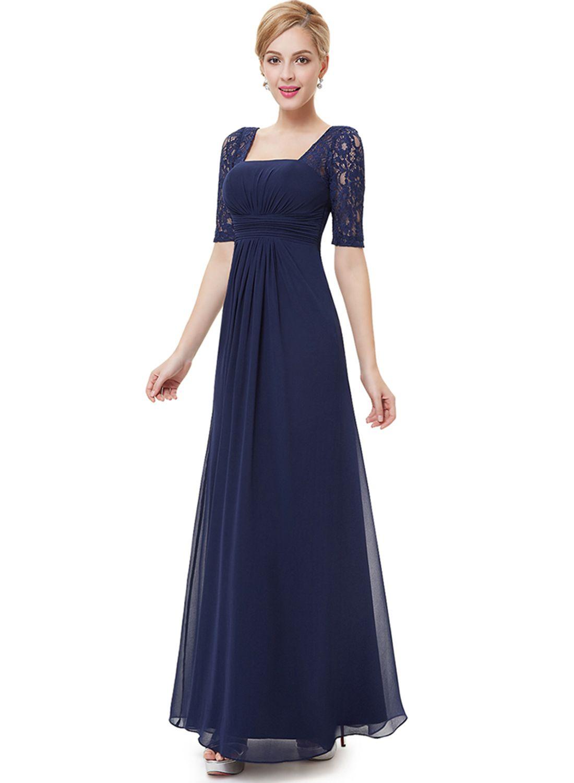 Women's Elegant Lace Panel Maxi Prom Evening Dress - OASAP ...