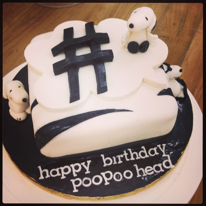 Snoopy Hashtag Cake