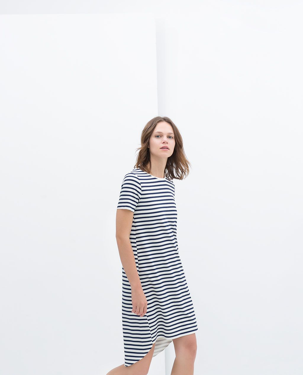 Image of short sleeve dress from zara people j u l i a winter