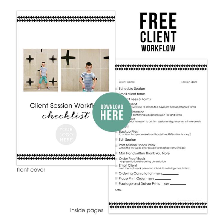 Free Photographers Workflow Checklist Bonus Millers Lab Tear Off Notebook Template
