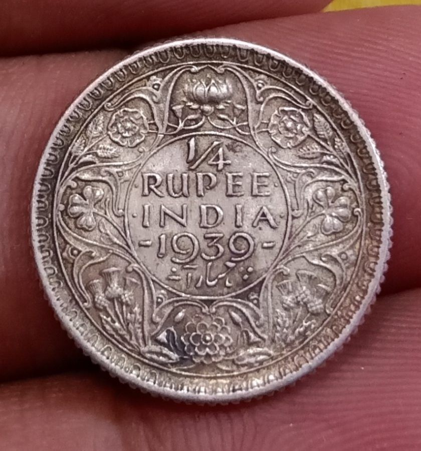British India Full Silver 1 4 Rupee 1939 George Vi Key Date Scare Coin In Collectable Grade Coinbazzar Com In 2020 Key Dates George Vi Coins