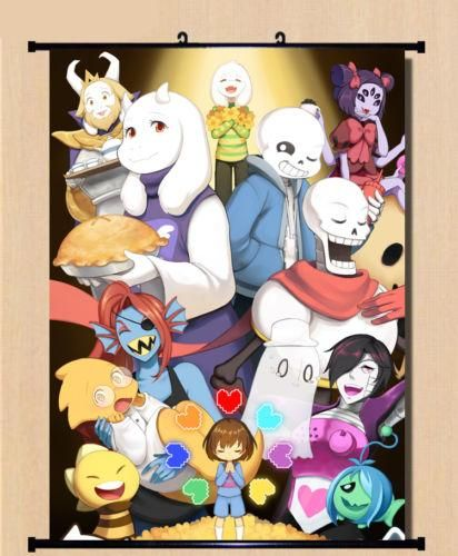[Visit to Buy] Game Undertale Sans And Papyrus Poster Wall Home Decor Scroll Birthday#80*60cm  #Advertisement