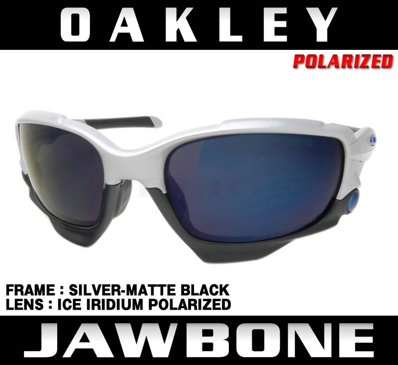 OAKLEY オークリー サングラス JAWBONE:ジョウボーン アジアンフィット カスタム (SILVER-MATTE BLACK/ICE IRIDIUM ...