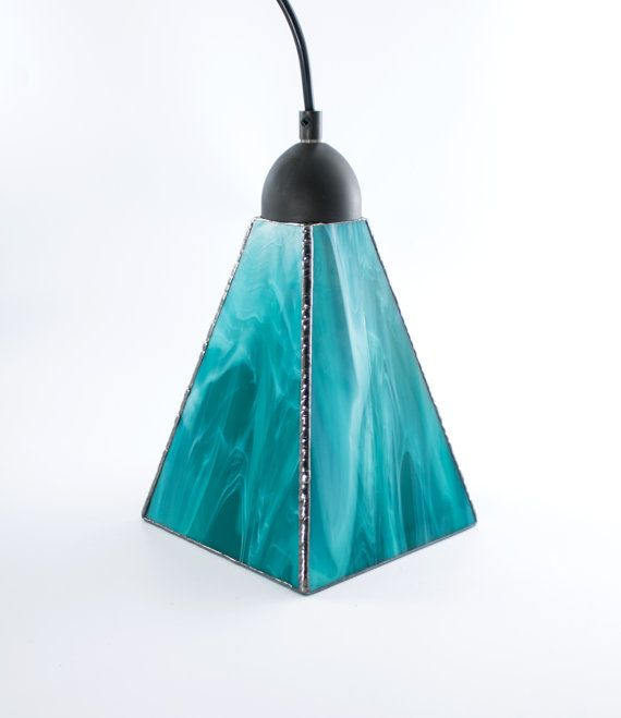Stained Glass Pendant Lighting, Ceiling Fixture, Modern