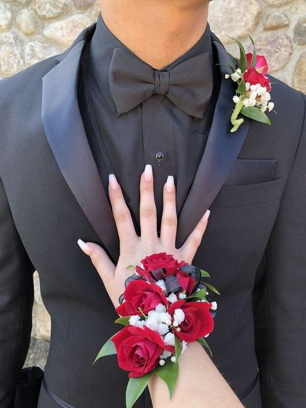 Top 30 Prom Corsage and Boutonniere Set Ideas