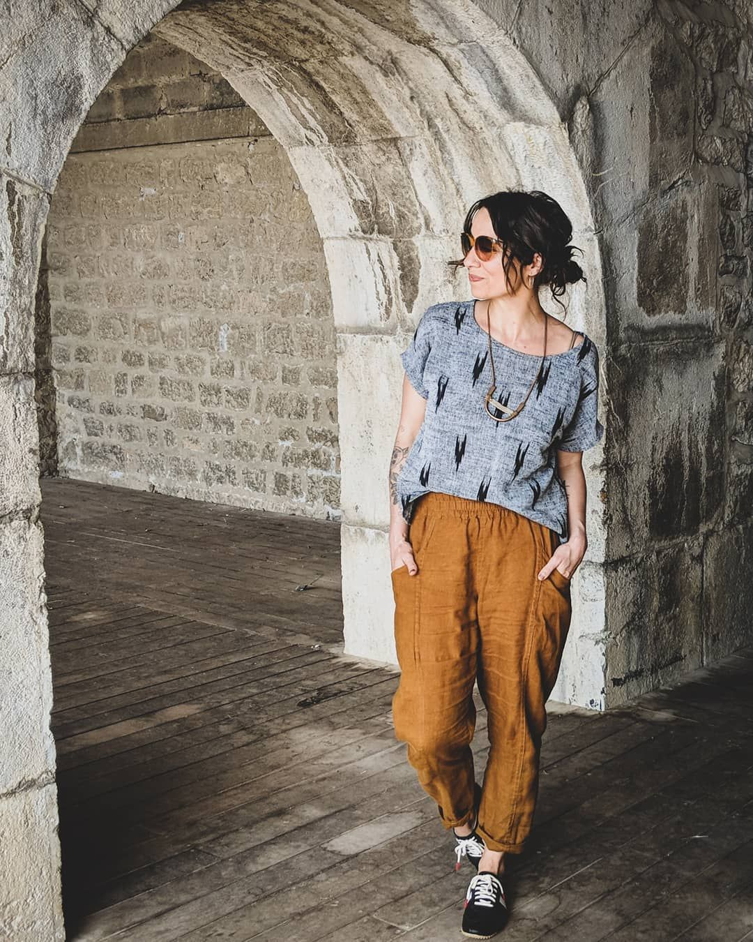 Meg The Mindful Wardrobe On Instagram We Are Having A Fantastic Time At The Bastille In Grenoble I Ve Posted More Photos With Images Fashion Casual Outfits How To Wear