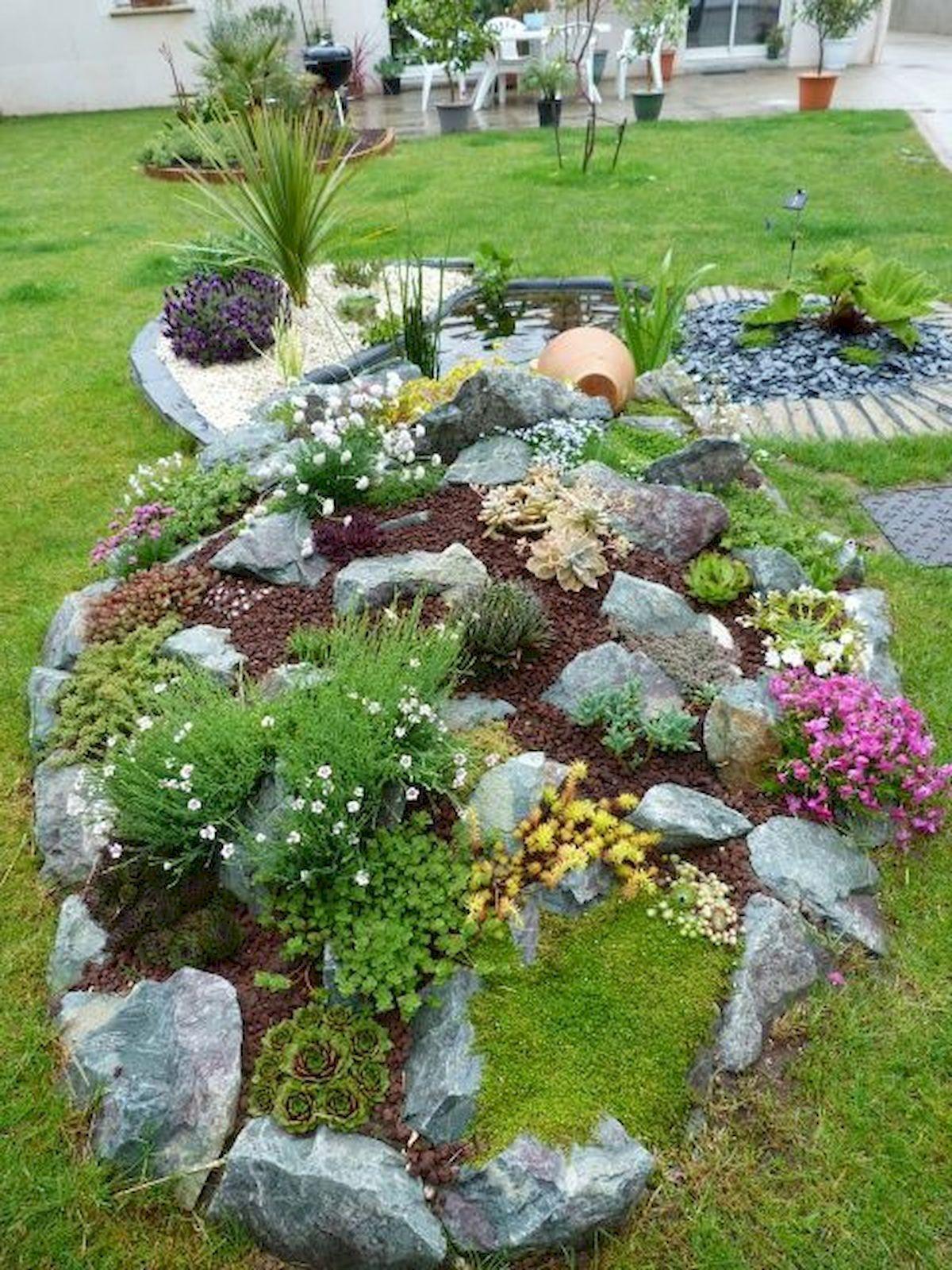 40 Beautiful Front Yard Rock Garden Landscaping Ideas# ...