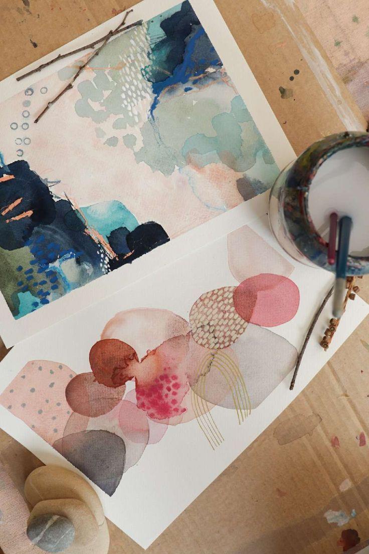 Aquarell abstrakt  #abstrakt #aquarell