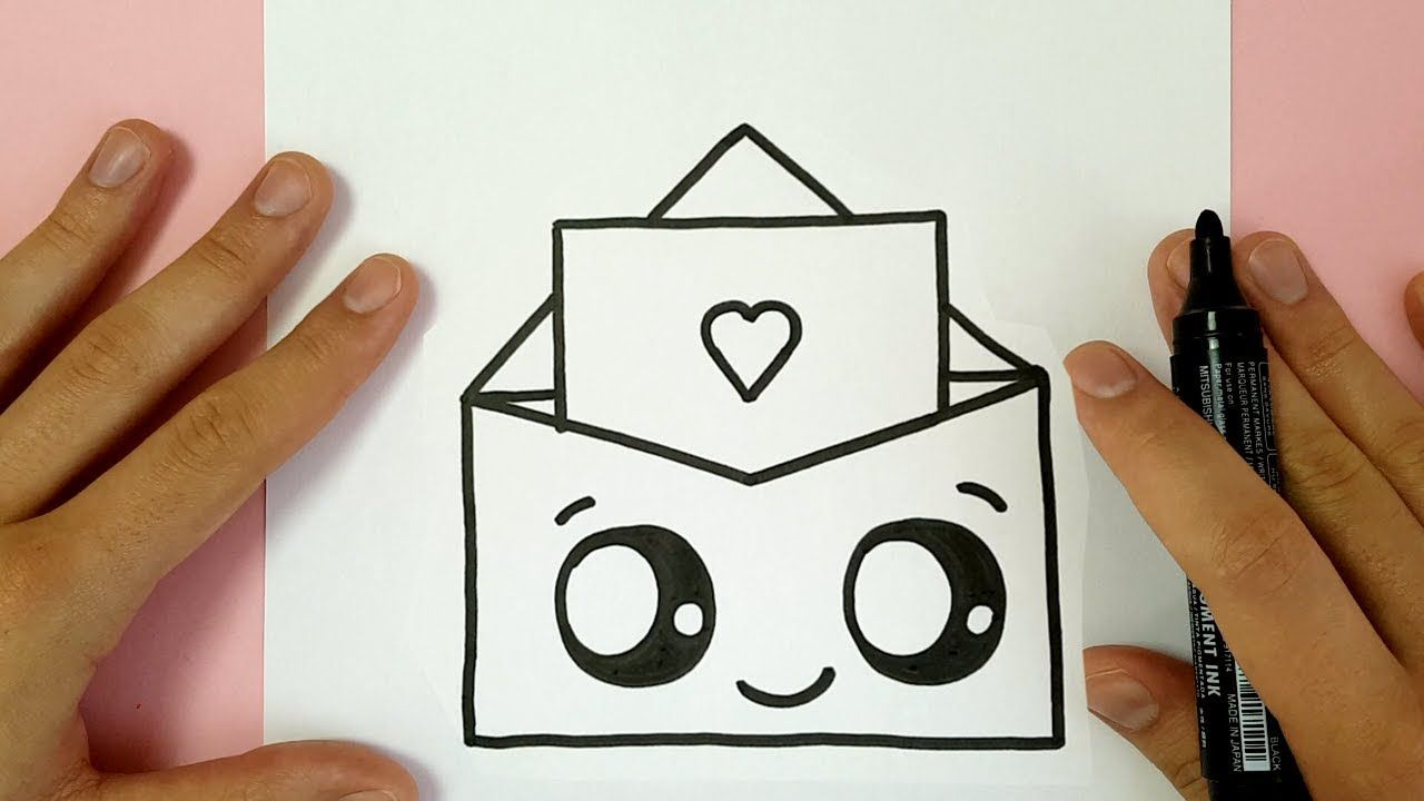 How To Draw A Super Cute Love Enveloppe Valentine S Day