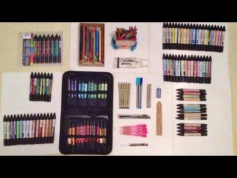 Coloriage Adulte Materiel.Mon Materiel De Dessin My Tools Youtube Dessin Pinterest