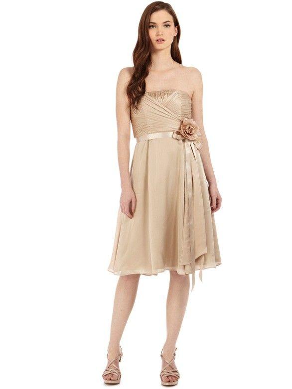Zierliche Knielange geraffte Brautjungfernkleider mit ...