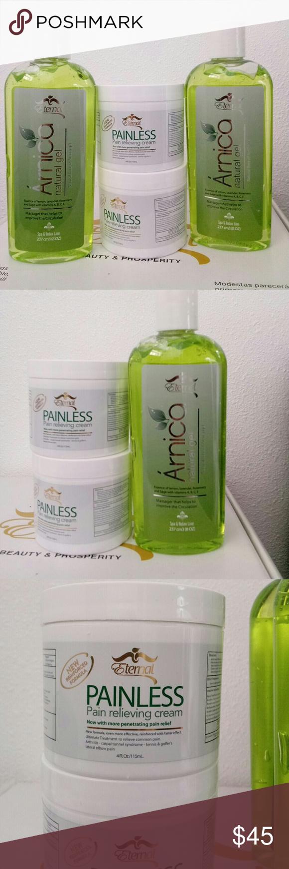 2 Arnica Natural Gel 2 Painless Cream Painless Gel Cream
