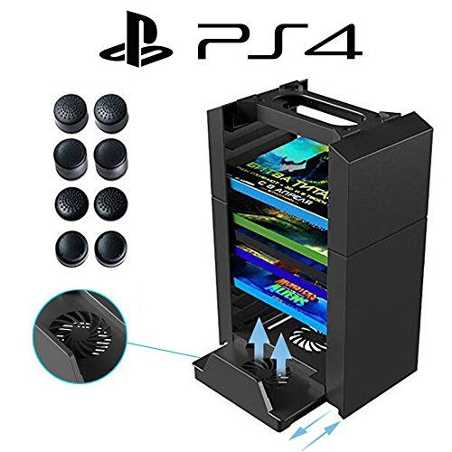 Anrain Ps4 Ps4 Slim Ps4 Pro Vertical Stand Cooling Fan With Game