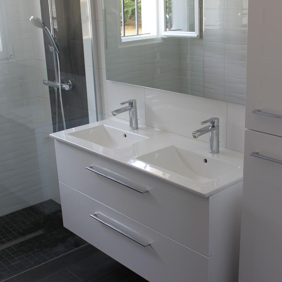 Vasque Salle De Bain A Suspendre maël meuble contemporain suspendu blanc salle de bain en