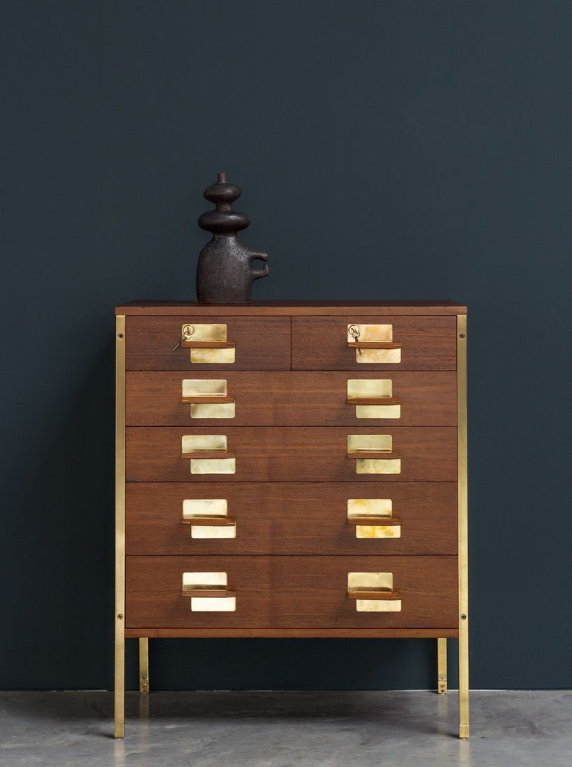 Ico Parisi Chest With Drawers From The Positano Series Mim Roma  # Muebles Bustper