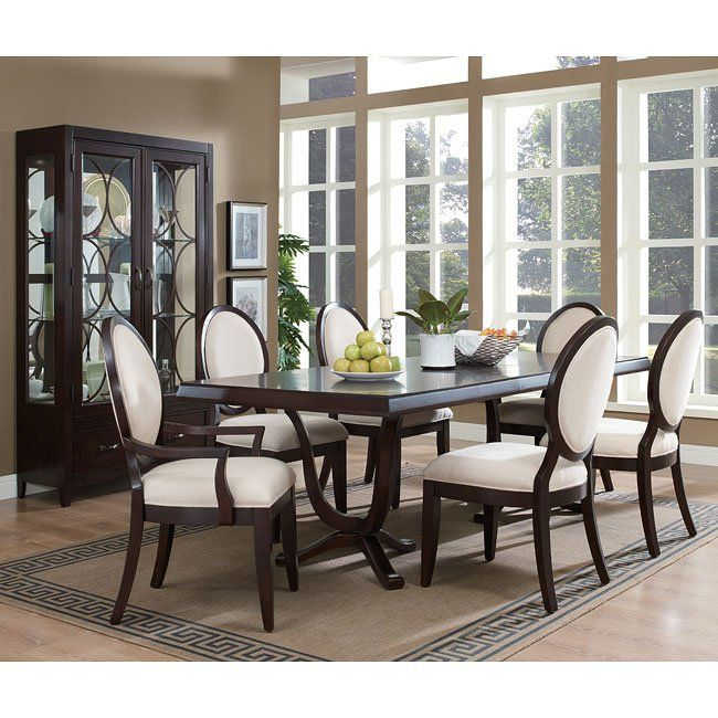 Cheap Formal Dining Room Sets: Plaza Square Dining Room Set W/ Oval Back Chairs In 2019