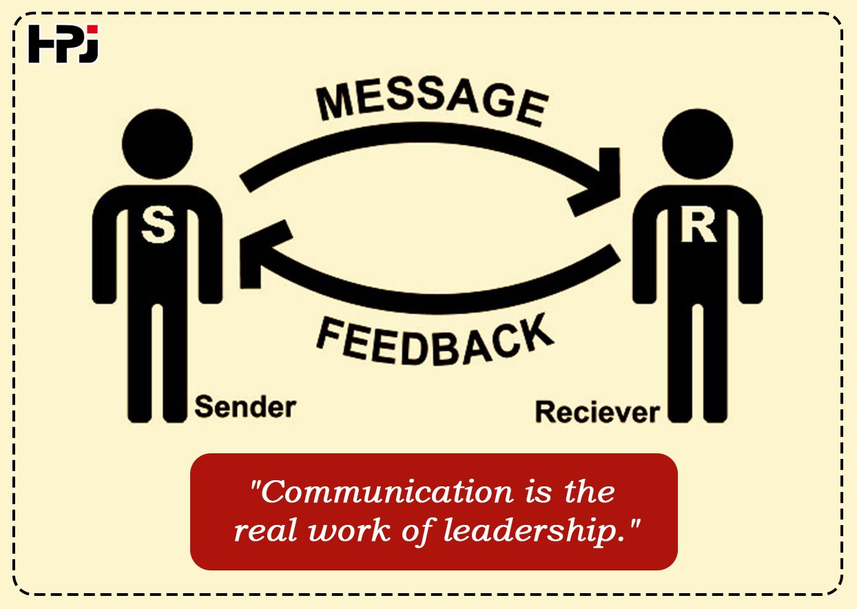 Communication Is The Real Work Of Leadership Hpjexim
