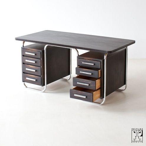 Bauhaus tubular steel desk Iconic Furniture Design