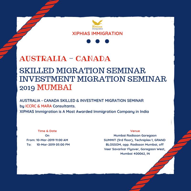 Australia Canada Skilled Migration Seminar 2019