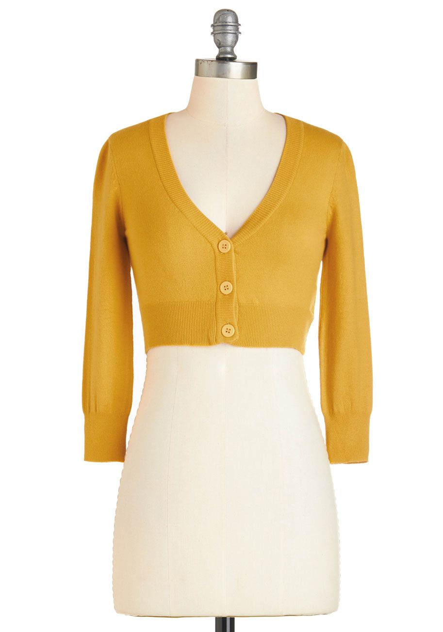 dfb8293a01 The Dream of the Crop Cardigan in Honey - Short