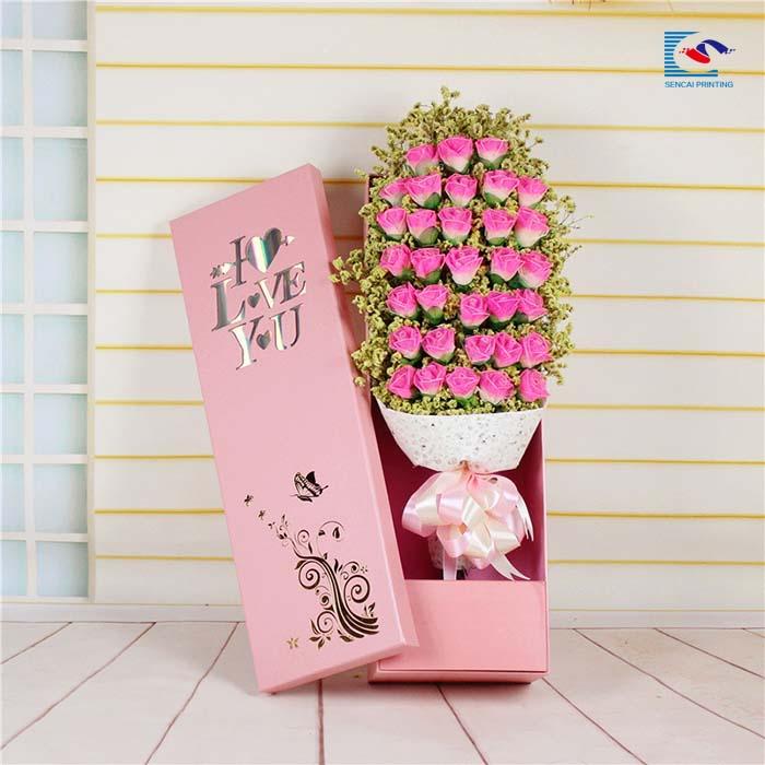 33pcs Gold Stamping Rose Artificial Flower Bouquet