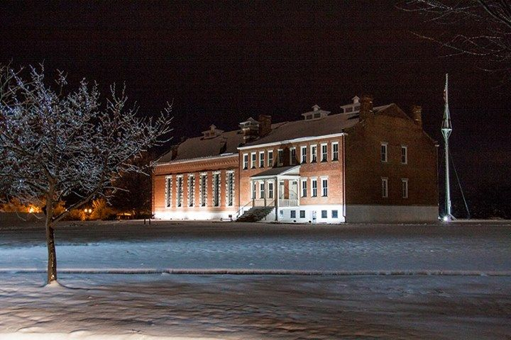 Judge Parker's Courthouse in Fort Smith, Arkansas after a snow & ice storm.