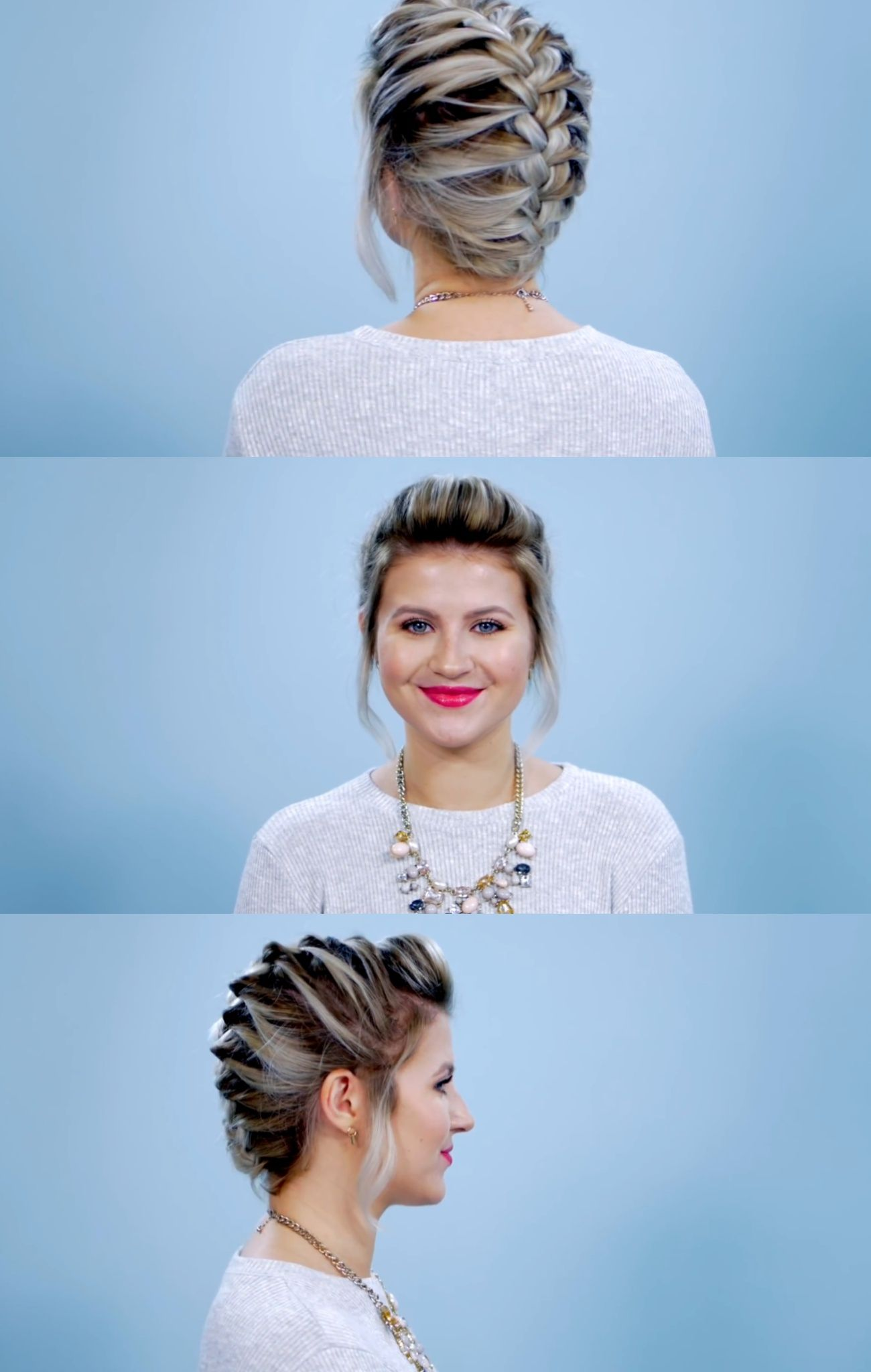 French braid for short hair doll me up pinterest french braid