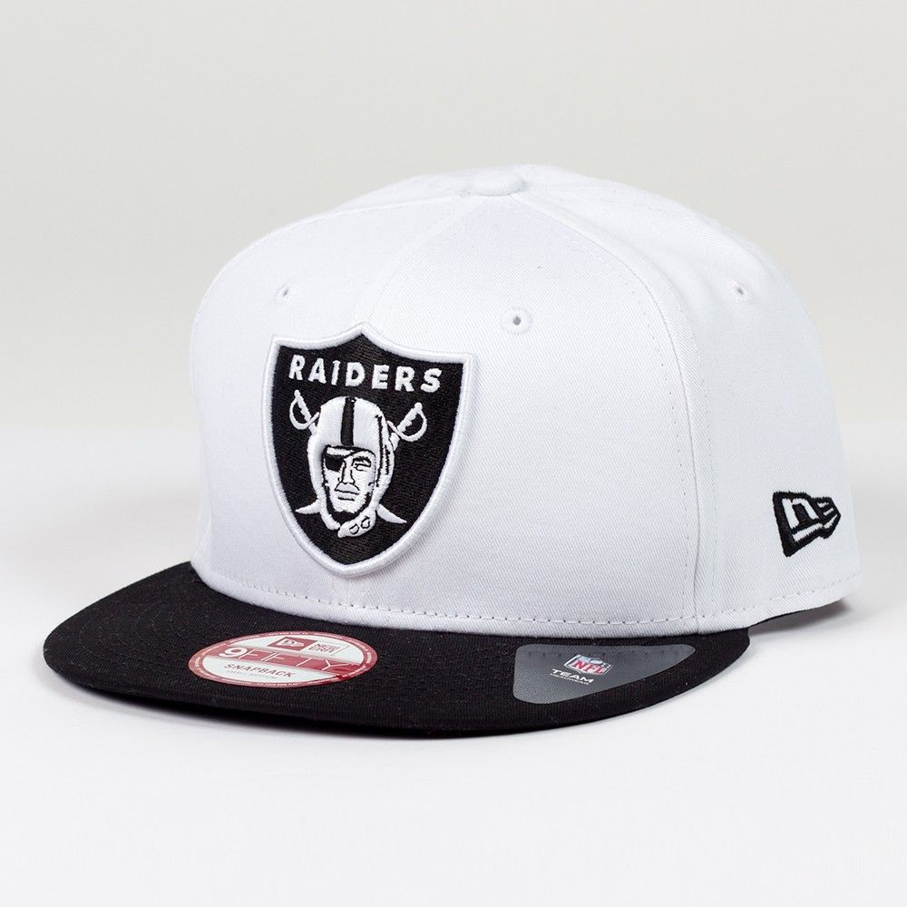 Casquette New Era 9FIFTY snapback Two Color Team NFL Oakland Raiders White  http://