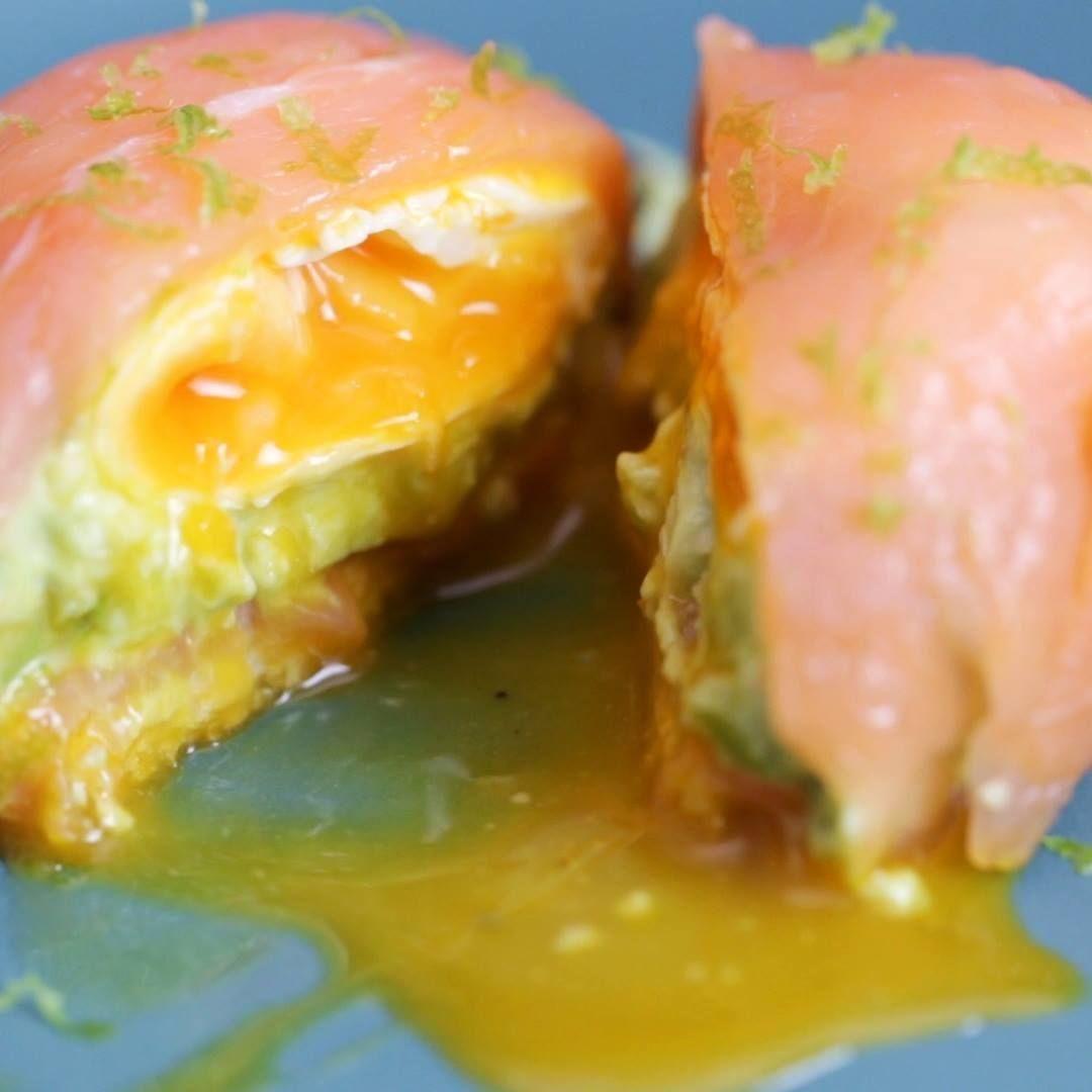 : Kuppel mit Lachs, Avocado und Ei   - Les recettes salées -