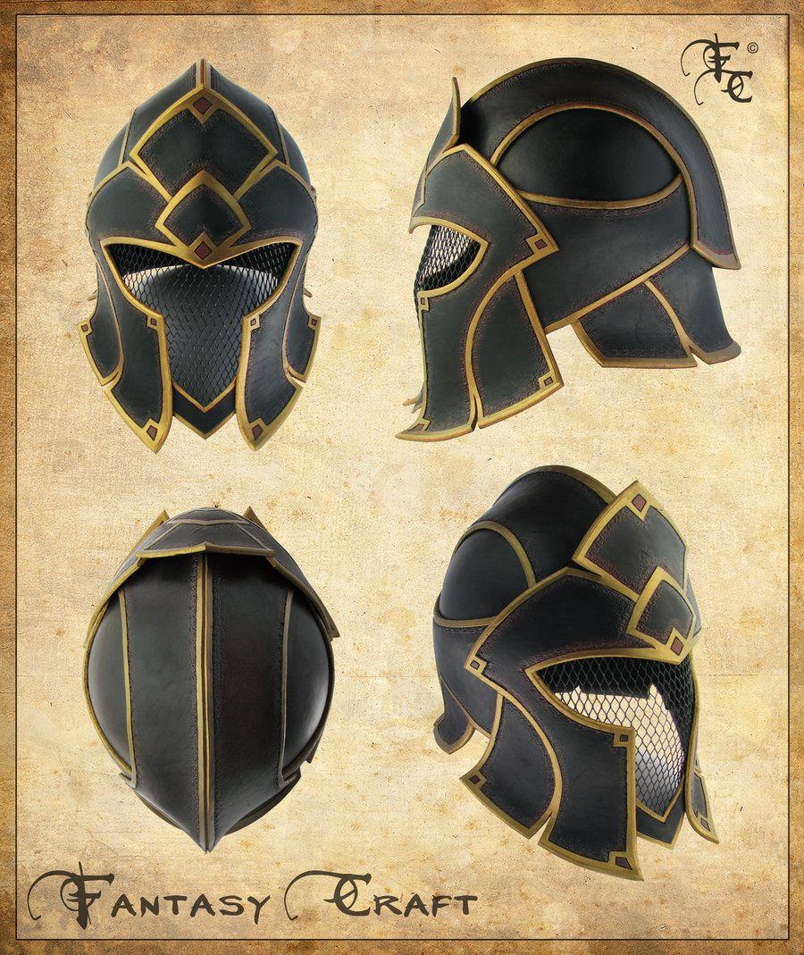 Fantasy leather helmet by I-TAVARON-I.deviantart.com on @deviantART