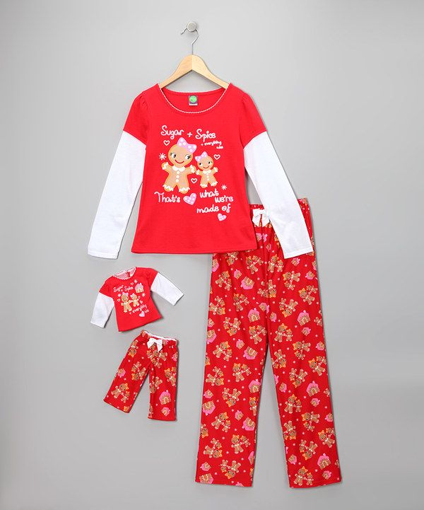 Take a look at this Dollie   Me Dollie   Me Red Gingerbread Pajama Set    Doll Outfit - Girls on zulily today! c48786f4a